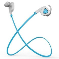 Bluedio Q5 Wireless Bluetooth 4.1 Headset Stereo Earphones In-Ear Earbud Sports Sweatproof Headset Support APP Noisy Reduction Blue (Intl)