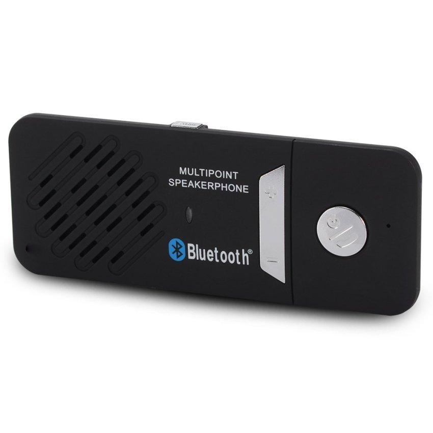Bluetooth 4.0 Slim Magnetic Wireless Handsfree Car Kit Speaker Visor Clip MA351 (Intl)