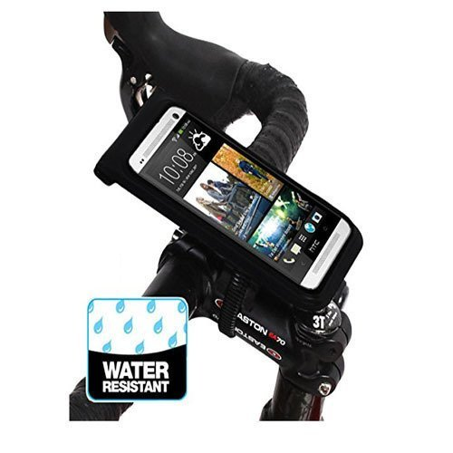 BM WORKS Slim3 R Water Resistant Smartphone Bike Mount Large Size, Bicycle Phone Case Holder for iPhone, Samsung Galaxy (Black) (Intl)