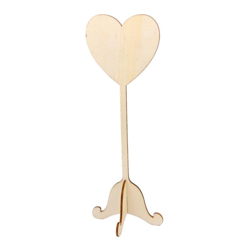 BolehDeals 10pcs Wooden Heart Shape Blackboard Table Numbers Stand Wedding Party Favors (Intl)