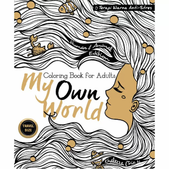 Book my own world coloring book for adults travel size Coloring book for adults lazada