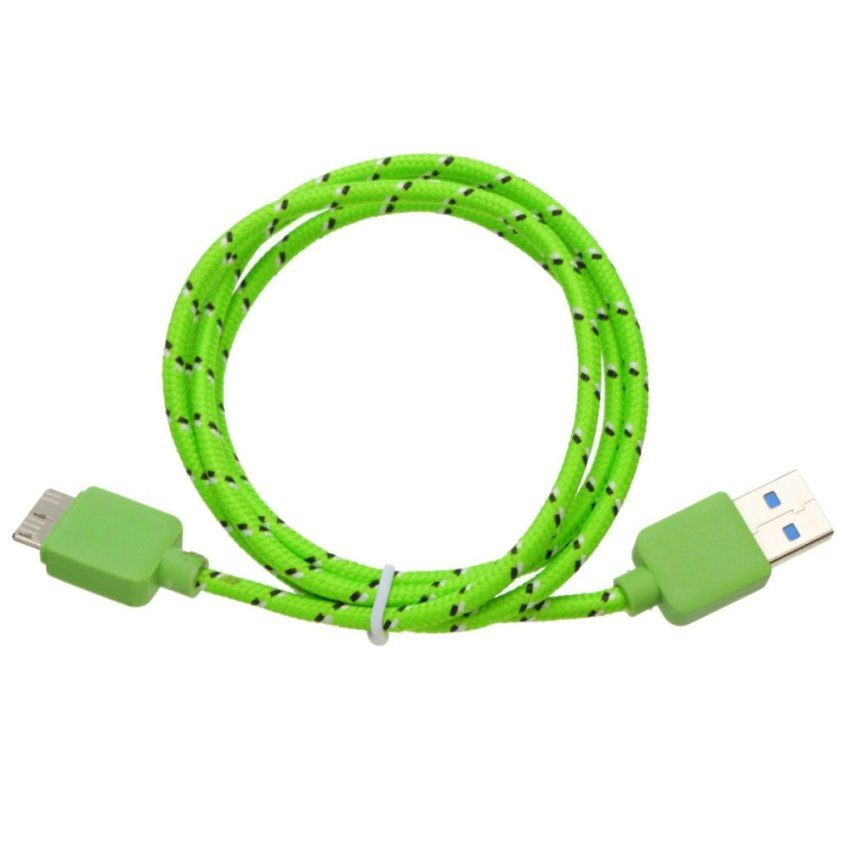 Braidde Micro USB 3.0 Cable For Samsung Galaxy S5 Note 3 Green 1m
