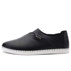 British Retro Soft Bottom Sleek Casual Comfort Shoes (Black) - Intl