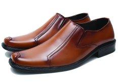 BSM Soga BFH 151 Sepatu Pantofel / Formal / Kerja Pria Kulit Asli - Elegan - Tan