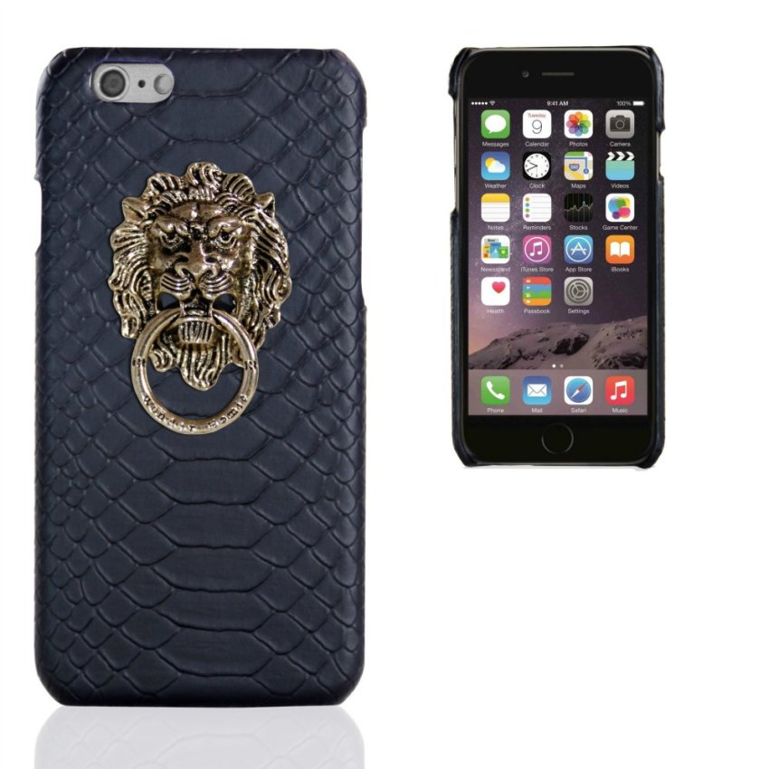 Business Style Luxury Leather Case for Apple Iphone 6 6S 4.7inch (Black) (Intl)