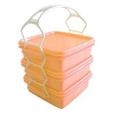 Calista Premium Set Rantang - 3 Susun - Oranye