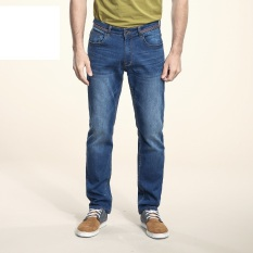 Camel 2016 New Men's Jean Straight Zipper Slim Casual Demin Pants Color Blue - Intl