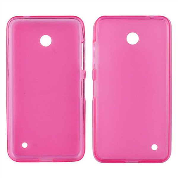 Candy Color Translucent Soft TPU Back Case For Nokia Lumia 630 635 Hot Pink