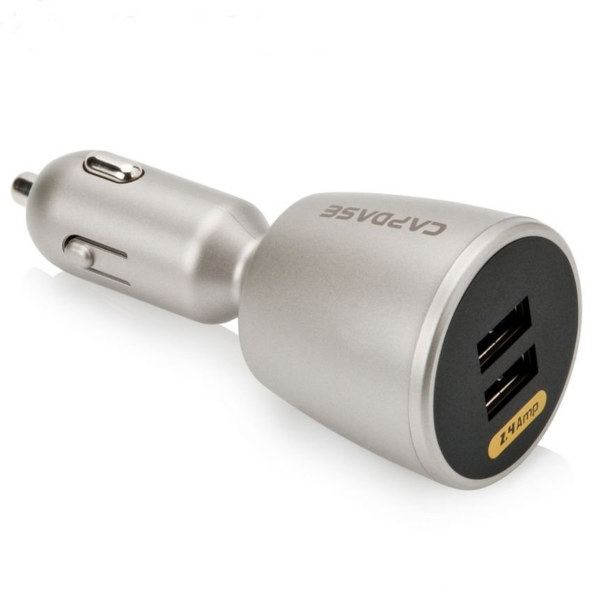 Capdase Car Charger Dual Usb Revo K2 - 2.4A - Silver