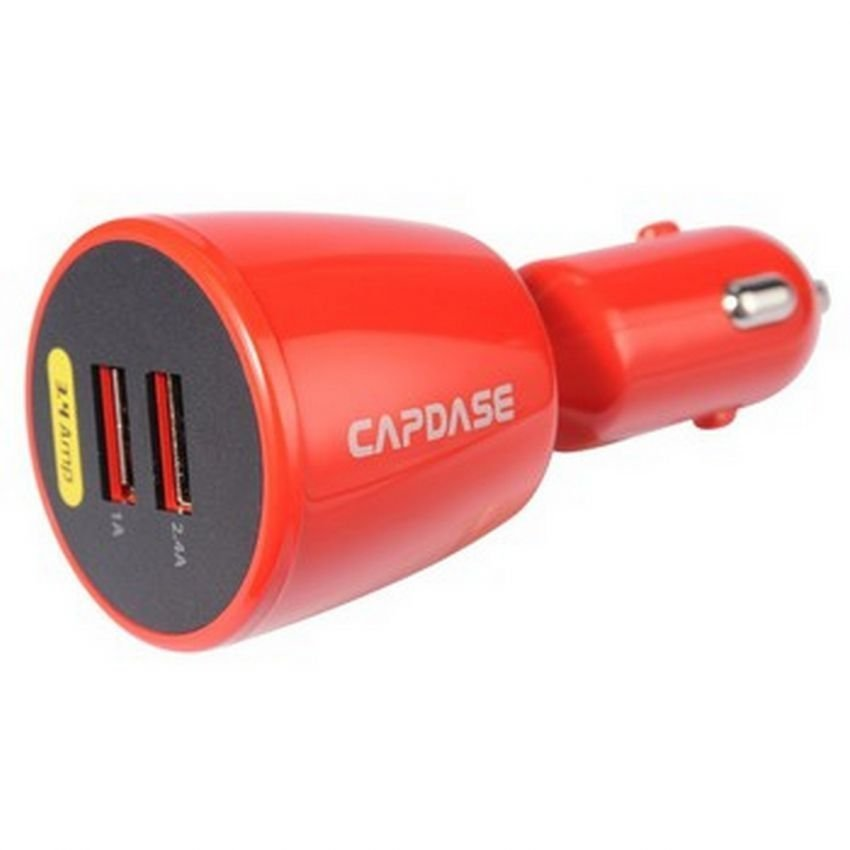 Capdase Dual USB Car Charger - Red