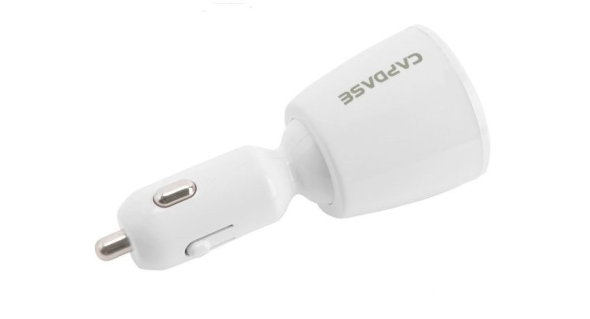 Capdase Dual USB Car Charger Revo T2 3.4 Amp - White