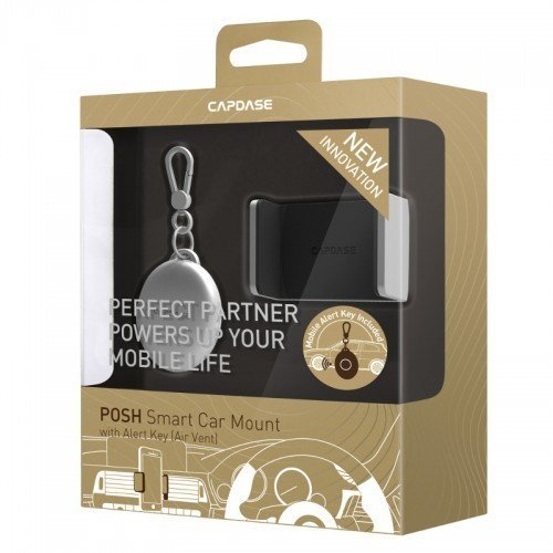 Capdase Posh Smart Car Mount With Key Alert (Air Vent) - Silver
