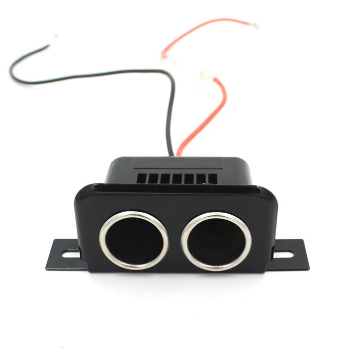 Car 12V Cigarette Lighter Dual Double Socket Adapter Charger Splitter Black (Intl)