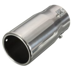 Car Auto Vehicle Chrome Exhaust Pipe Tip Muffler Steel Stainless Trim Tail Tube (Intl)