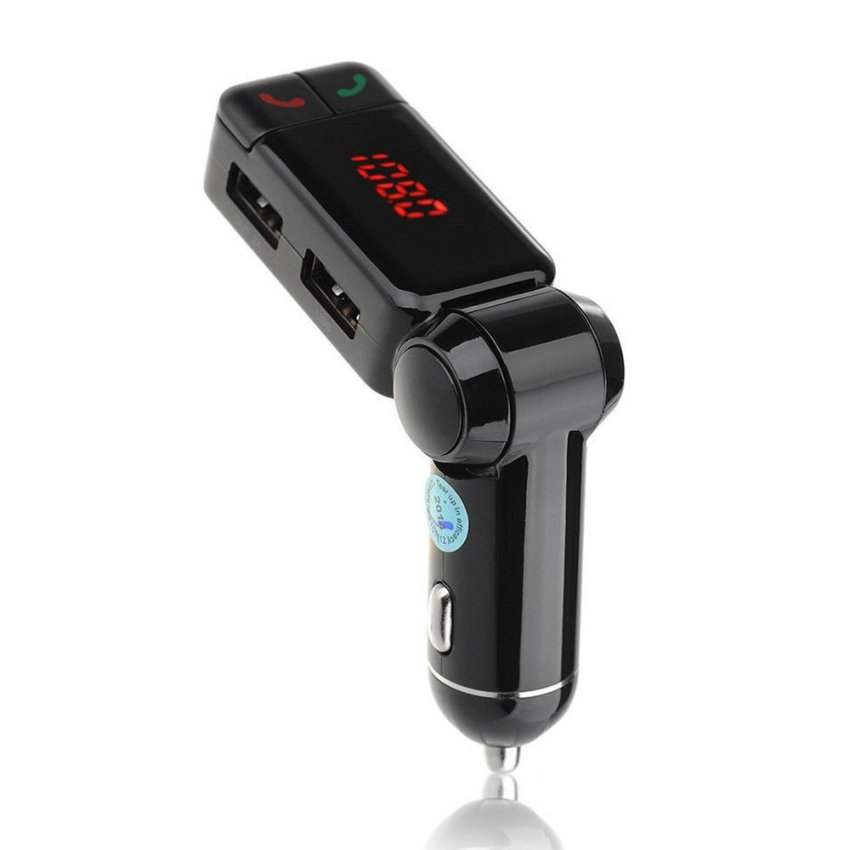 Car Bluetooth FM Wireless Transmitter LCD Charger Kit(INTL)