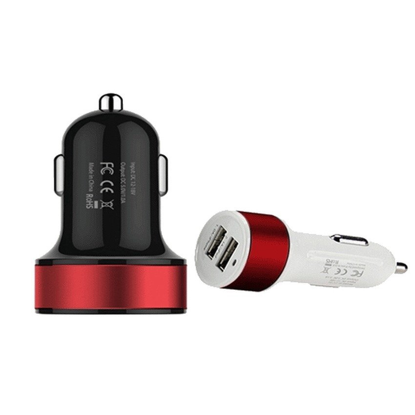 Car Charger Dual Mini USB for Smartphone and Tablet PC - SP011 - Putih