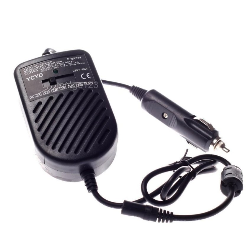 Car Charger Laptop Power Adapter 80W Multifunction Universal (Intl)