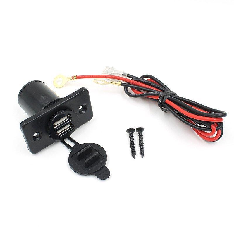 Car Dual USB Cigarette Lighter Socket Charger Power Adapter Outlet 12V (Intl)