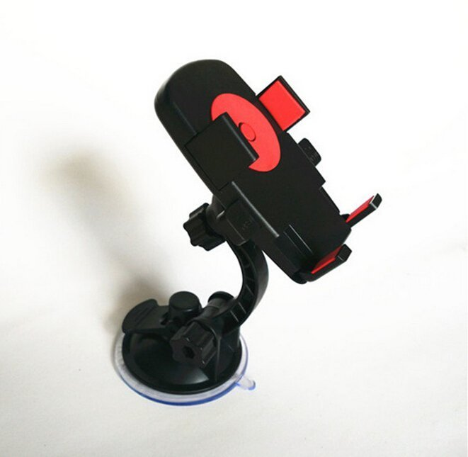 Car Holder Stand Cradle For Mobile Cell Phone iphone with Suction (Red) (Intl)