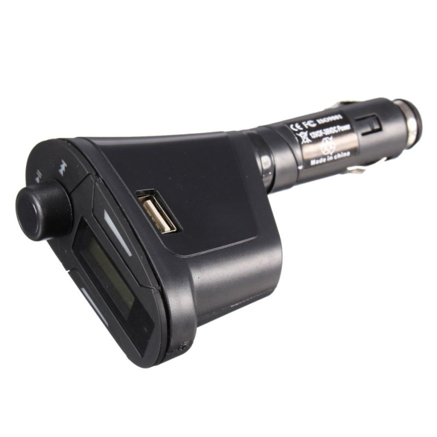 Car Kit Bluetooth Hands-free FM Transmitter Modulator SD MP3 Player USB Charger (Black) (Intl)