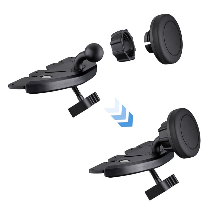 Car Mount Holder, MagGrip CD Slot Magnetic Universal Car Mount Holder Cradle (Intl)