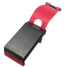 Car Steering Wheel Boss Kit Clip Holder GPS Navigator Bracket For Phone RED - Intl
