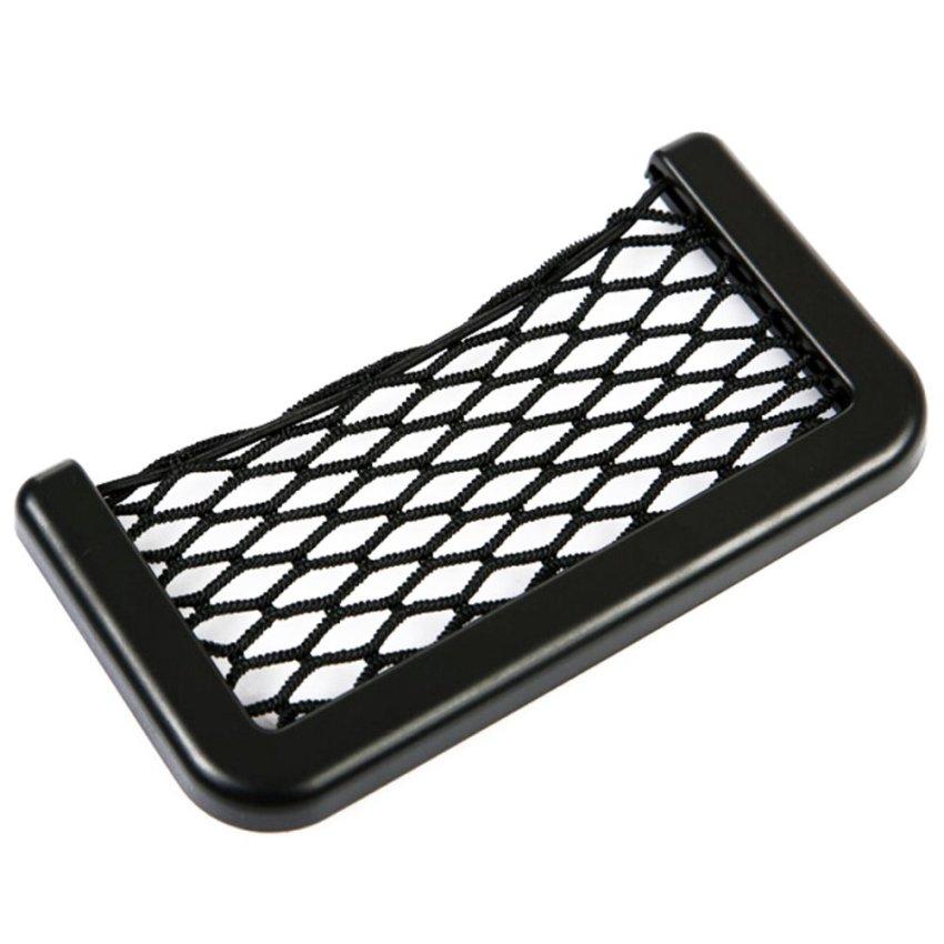 Car Storage Net Bag Car Seat Side Back Phone Holder Pocket Organizer Universal (Intl)