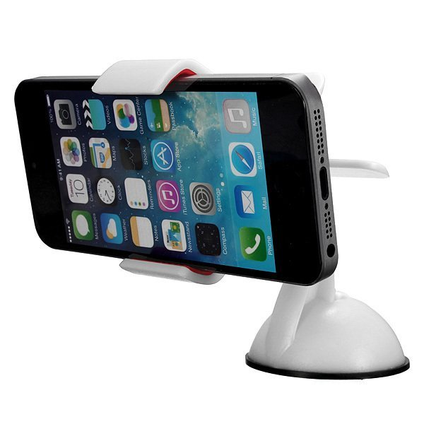 Car Windshield Mount Stand Holder For iPhone5 5S 5C S3 S4 Phone GPS White (Intl)
