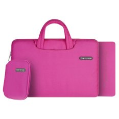 Cartinoe Carrying Bag Handbag for 11.6 Inch or Smaller MacBook / MacBook Pro / Laptops / Notebooks and Mouse Pad - Hot Pink