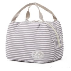 Cartior Thermal Insulated Lunch Box Tote Cooler Bag Bento Picnic Pouch Lunch Container For Family22*15*17.5 (Gray)