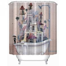 Cartoon Home Decor Shower Curtain House Tub Design Bathroom Waterproof Polyester Bathroom Curtain With 12 Hooks