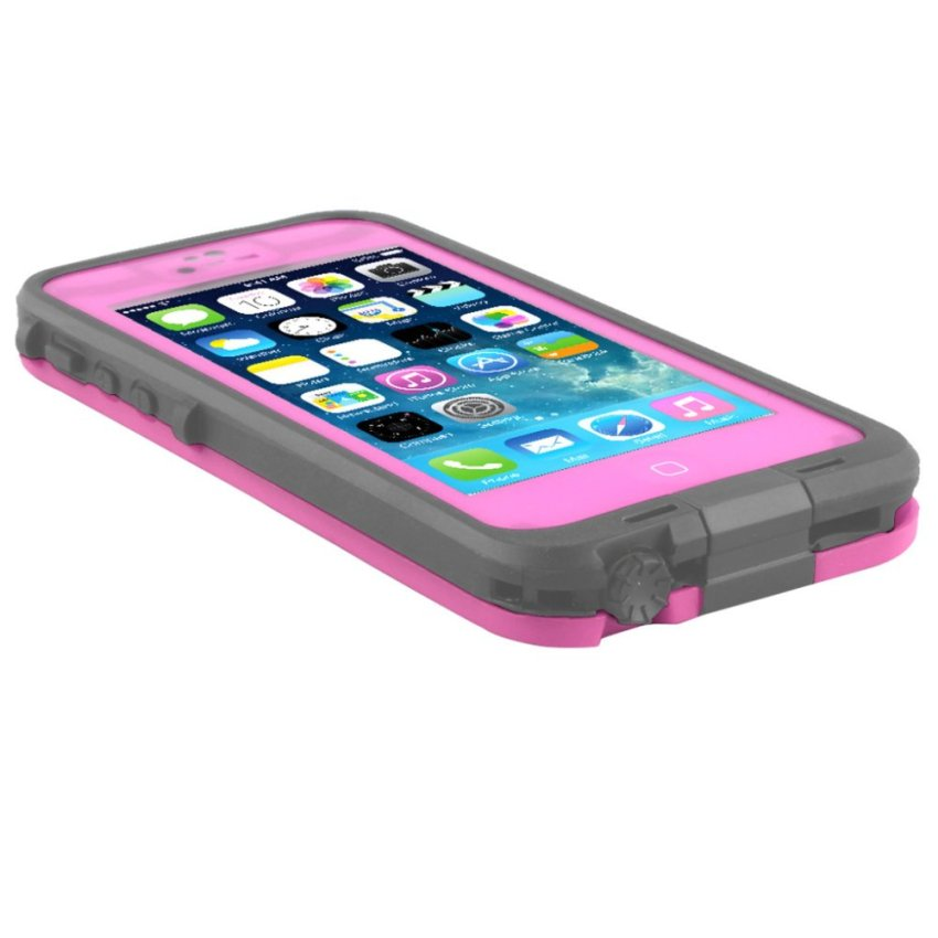 Case Cover with Screen Protector and Stylus for iPhone SE / 5S / 5 Pink