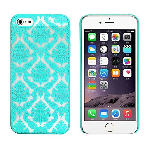 Case for Apple iPhone 6 4.7 inch Retro Court Lace Pattern Hard PC Snap-on Back Case - Green (Intl)