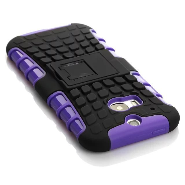 Case for HTC One M8 Combo High Impact Case Cover Defender with Kickstand - Purple (Intl)
