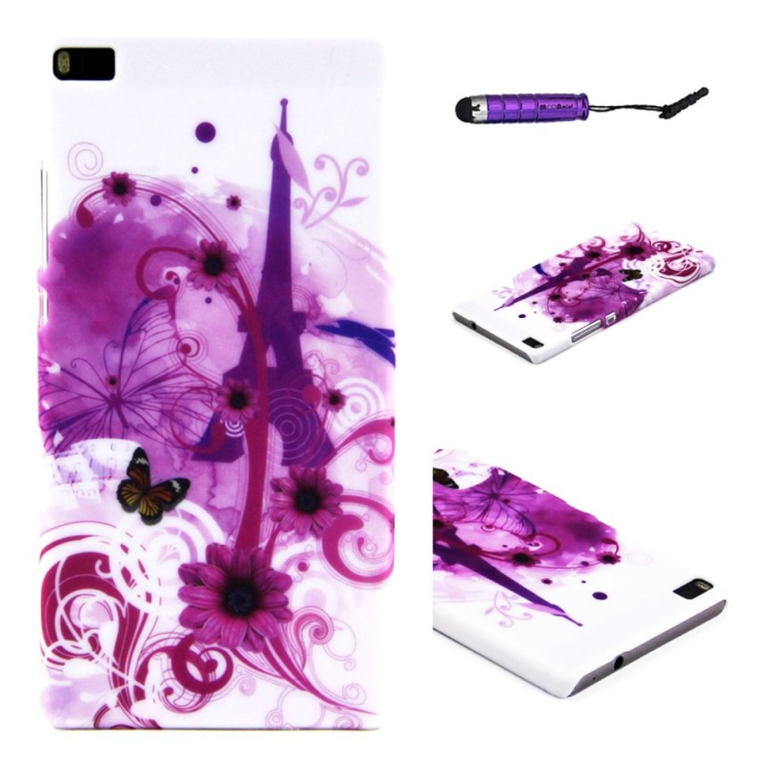 Case for Huawei Ascend P8 Hard PC Snap-On Back Case Cover - Eiffel Tower (Intl)