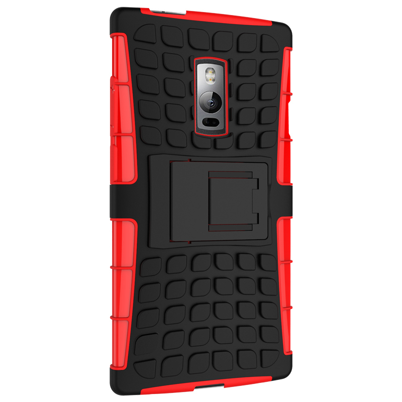 Case for OnePlus 2 Tire Design High Impact Rugged Shockproof Case with Kickstand - Blue (Intl)