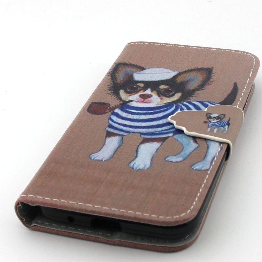 Case for Samsung Galaxy Core Prime G360 PU Leather Case Flip Stand Cover - Dog (Intl)