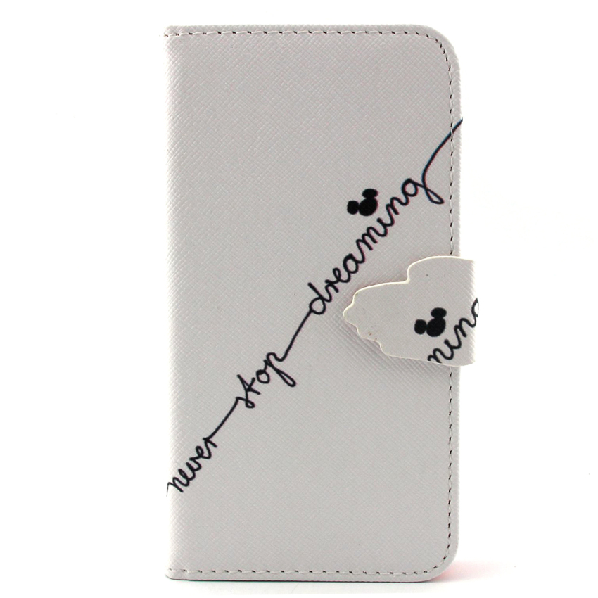 Case for Samsung Galaxy Core Prime G360 PU Leather Case Flip Stand Cover - Never Stop Dreaming (Intl)