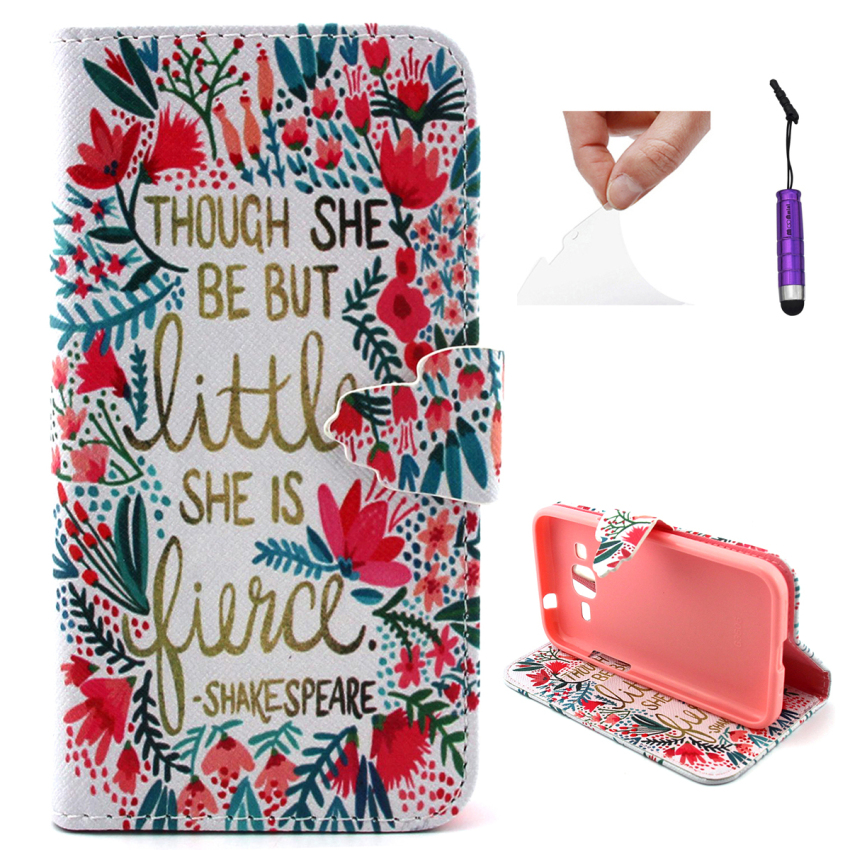 Case for Samsung Galaxy Core Prime G360 PU Leather Case Flip Stand Cover - Words Pattern (Intl)