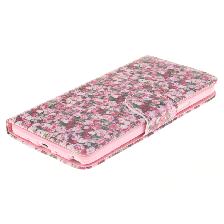 Case for Samsung Galaxy Note 4 N9100 PU Leather Case Flip Stand Cover - Floral Pattern (Intl)