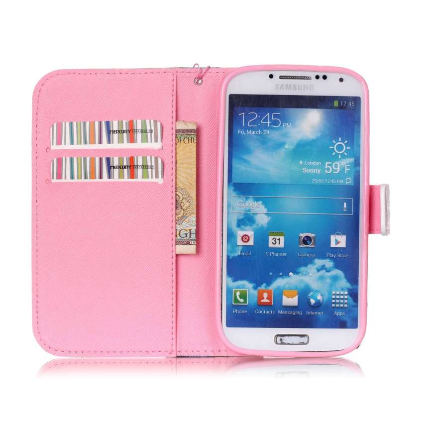 Case for Samsung Galaxy S4 i9500 PU Leather Flip Stand Case Cover Wallet - Dandelions (Intl)