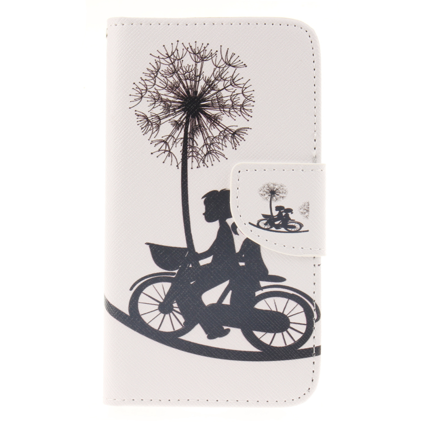 Case for Samsung Galaxy S5 i9600 PU Leather Case Flip Stand Cover - Dandelion (Intl)