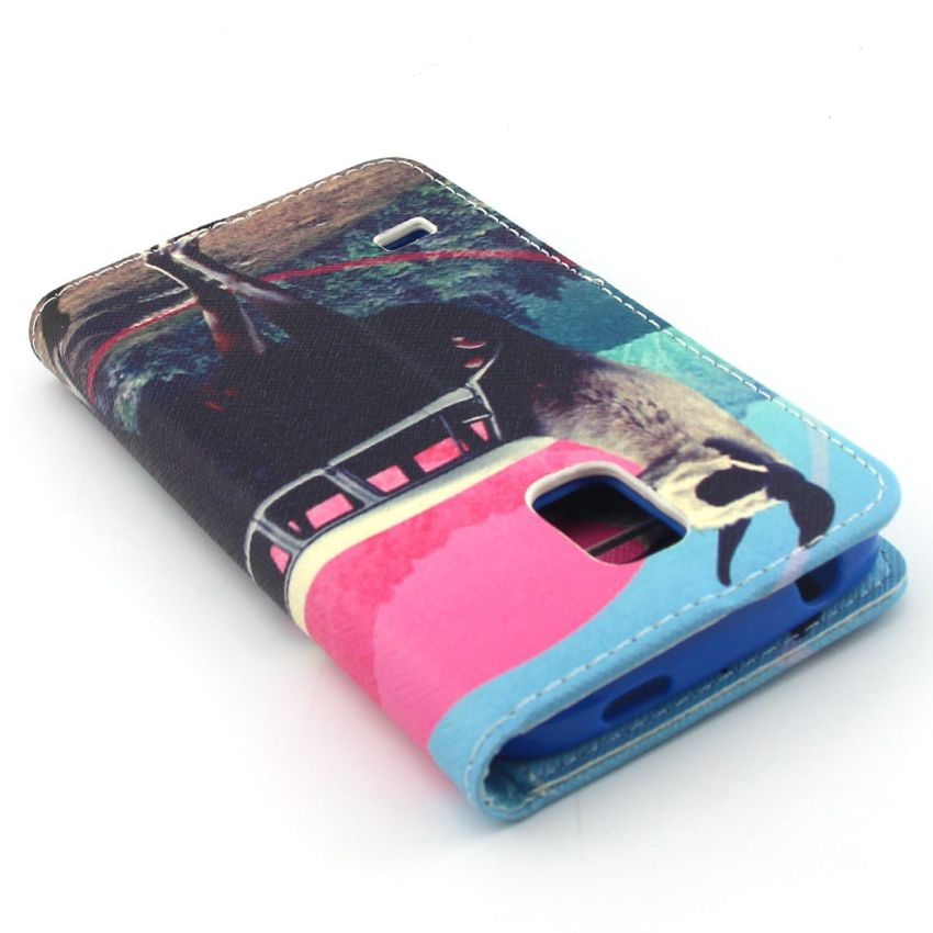 Case for Samsung Galaxy S5 Mini PU Leather Case Flip Stand Cover - Goat (Intl)