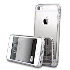 Case iphone 6 Alumunium Bumper With Mirror Backdoor Slide- Silver