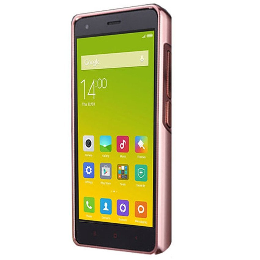 Case Mirror Metal Bumper Sliding For Xiaomi Redmi 2s / Redmi 2 Prime - Rose Gold + Gratis Screen Guard