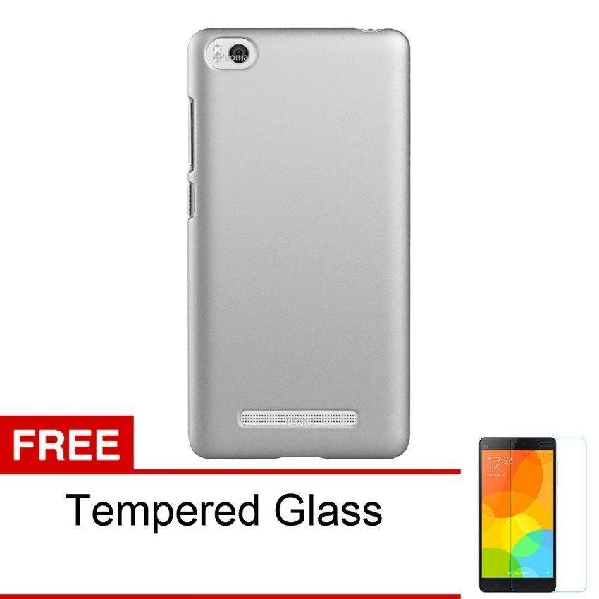 Case Xiaomi Mi 4i Hardcase - Abu-abu + Gratis Tempered Glass