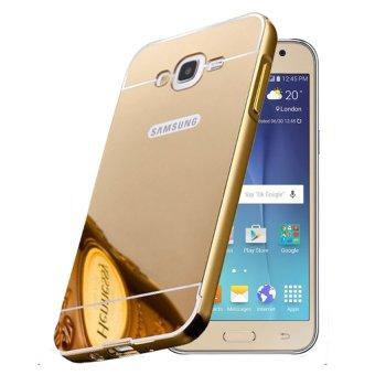 Casing Metal Bumper Mirror For Samsung Galaxy J3 Gold