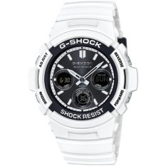 Casio CASIO Men's Watch G-SHOCK White And Black Series World Six Stations Solar Radio AWG-M100SBW-7AJF - Intl