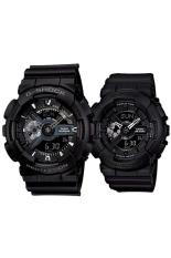 Casio G-Shock & Baby-G Men's & Women's GA-110-1B & BA-110BC-1A Couple Resin Strap Watch Black
