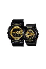 Casio G-Shock & Baby-G Men's & Women's GD-100GB-1 & BA-110-1A Couple Resin Strap Watch Black